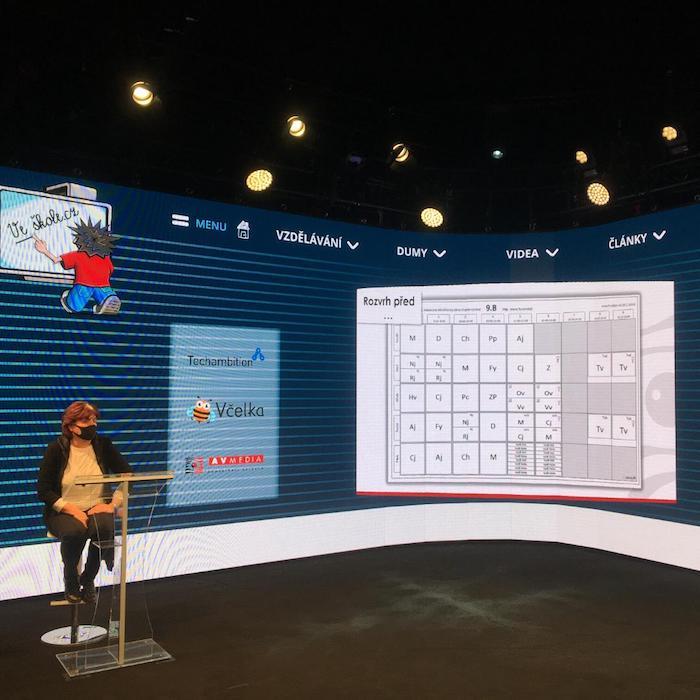 Virtuální konference Veškole.cz, zdroj: AV Media