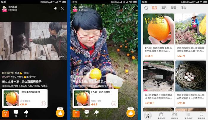 Livestream ke své propagaci využívají i čínští farmáři, zdroj: Techinasia.com.