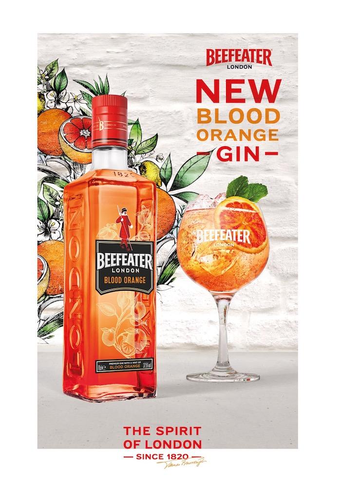 Klíčový vizuál k novince Beefeater Blood Orange, zdroj: JBPR