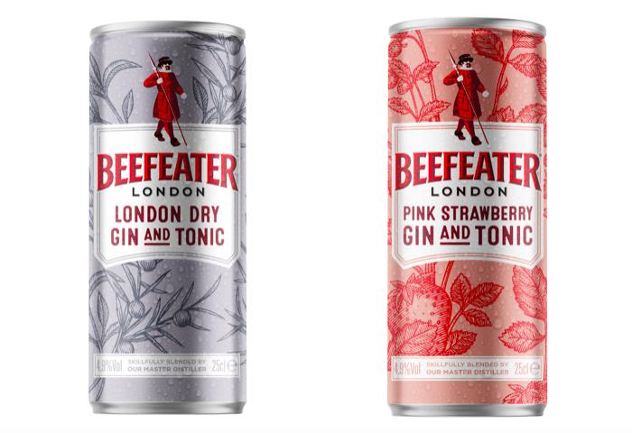 Předmíchané koktejly v plechovce uvádí Beefeater ve dvou variantách, zdroj: JBPR