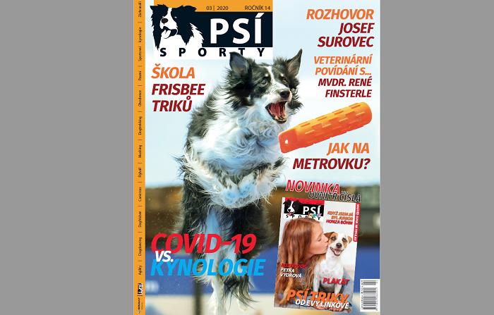Titulní strana časopisu Psí sporty
