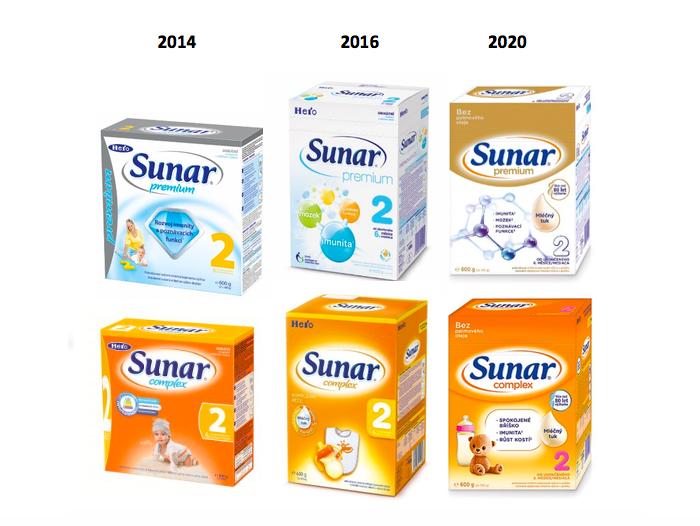 Redesign obalů značky Sunar, zdroj: Hero