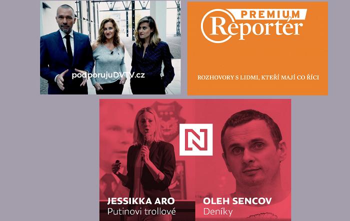 Nové projekty od DVTV, Reportéra a Deníku N