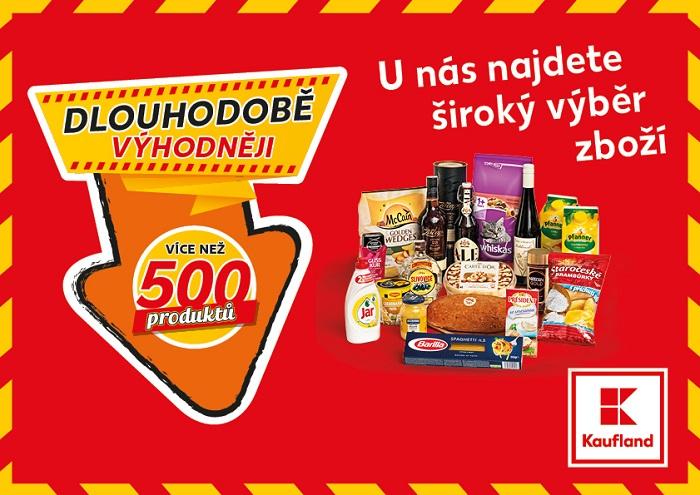 Kaufland dlouhodobě zlevňuje 500 produktů