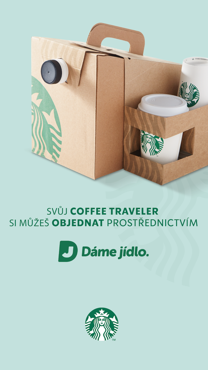 V době pandemie byl ve Starbucksu zájem i o dovoz tzv. Coffee Traveler, termobox s překapávanou kávou, zdroj: Starbucks