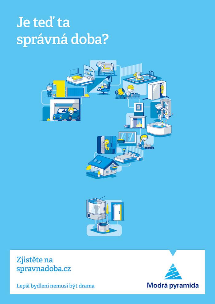 Klíčový vizuál aktuální kampaně Modré pyramidy, zdroj: Modrá pyramida