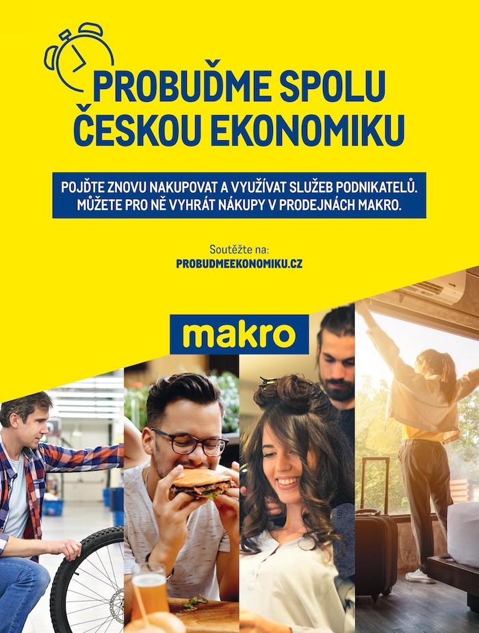 Klíčový vizuál ke kampani Probuďme ekonomiku, zdroj: Makro