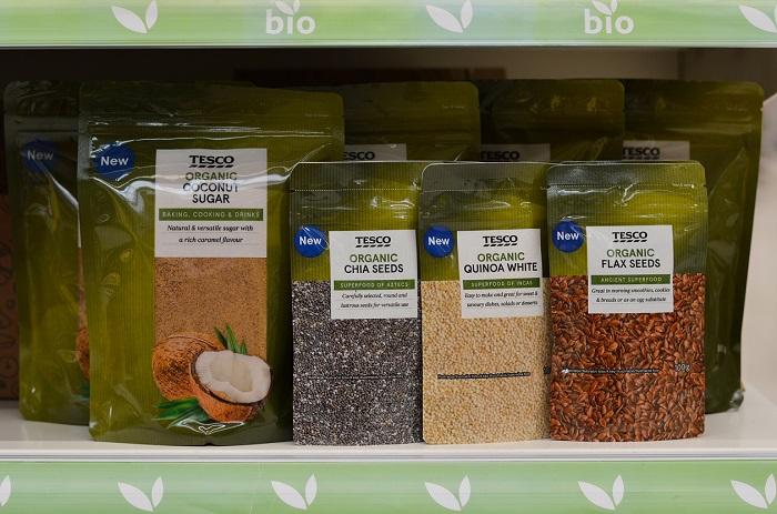 V Tesco ČR tvoří privátní značky zhruba třetinu sortimentu, v Lidlu ovšem 80 %, zdroj: Tesco