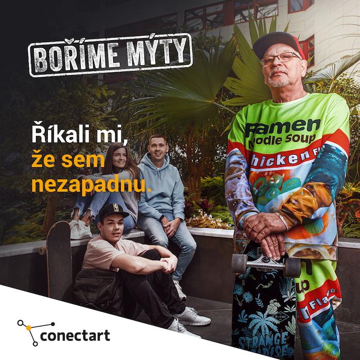Jeden z 10 vizuálů kampaně společnosti Conectart, zdroj: Conectart