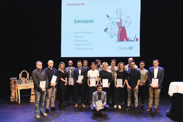 Laureáti Novinářské ceny 2019, foto: Nadace OSF
