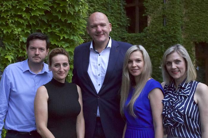 Nové vedení PR Klubu (zleva): Jan Osúch, Patricie Šedivá, Pavel Vlček, Jana Karasová, Jana Náchodská, zdroj: PR Klub