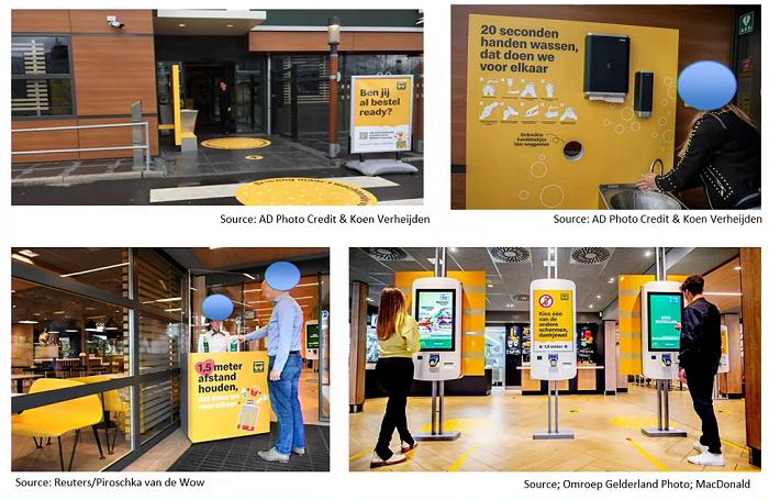 Ukázka opatření McDonald's v Nizozemsku, zdroj: prezentace Lea van de Polder
