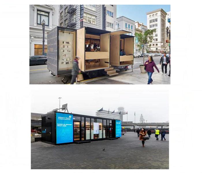 Do budoucna se mohou prosazovat více i mobilní prodejní formáty, zdroj: prezentace Lea van de Polder.
