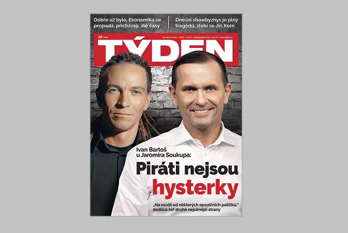 Titulní strana časopisu Týden č. 17/2020, zdroj: repro Týden