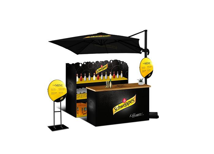 Na podporu značky Schweppes vznikl speciální bar, zdroj: Mattoni 1873