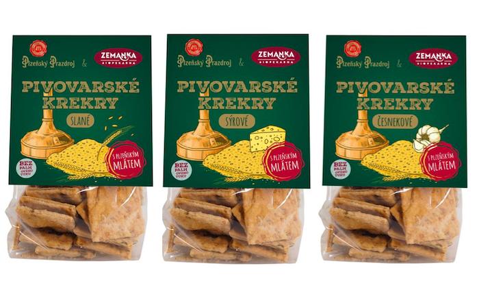 Pivovarské krekry jsou k dostání ve třech variantách, zdroj: Plzeňský Prazdroj.