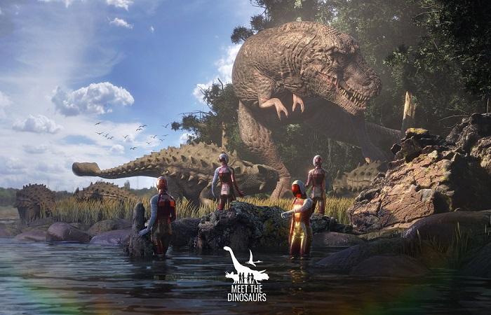 Hra ve virtuální realitě za dinosaury je placená, vstup stojí cca 400 Kč, zdroj : POP Airport Prague