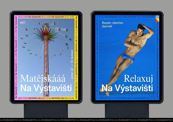 Ukázka možné reklamy s novou vizuální identitou, zdroj: Výstaviště Praha