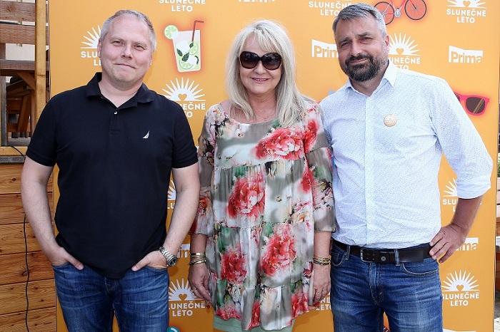 Management FTV Prima: Roman Mrázek, Lenka Hornová a Vladimír Pořízek na TK, zdroj: FTV Prima