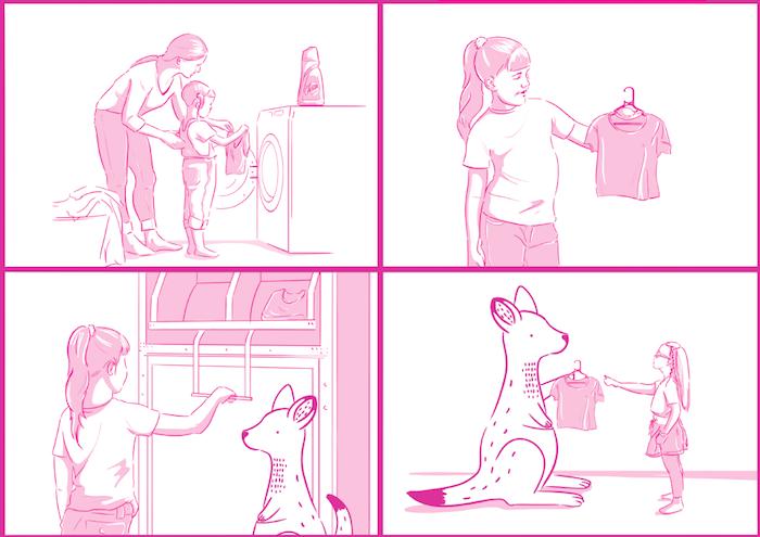 Součástí kampaně je i leták s komiksem, který je umístěn na vybraných prodejnách, zdroj: Reckitt Benckiser.