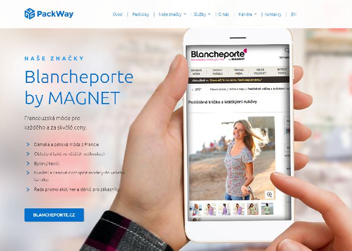 E-shop Blancheporte je zaměřený na módu a má přes 350 tisíc, spíše zákaznic, zdroj: PackWay.