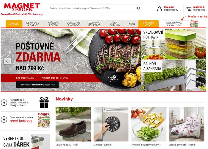 Magnet nabízí spotřební zboží do domácnosti a na zahradu, zdroj: PackWay.