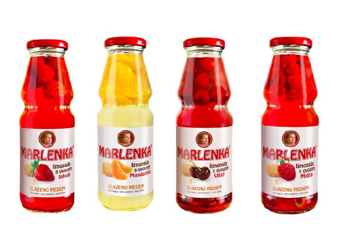 Čtyři druhy medových limonád uvádí firma Honey Drink se značkou Marlenka, zdroj: Honey Drink.
