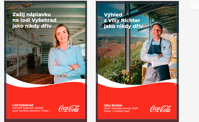 Vizuály kampaně Spolu jako nikdy dřív, zdroj: Coca-Cola