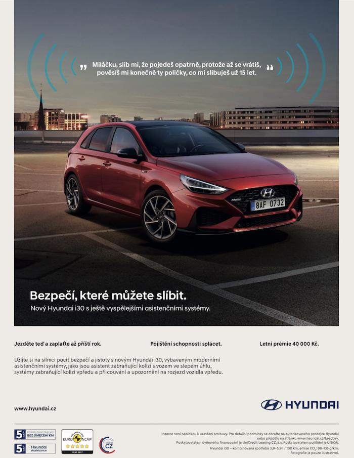 Klíčový vizuál ke kampani na podporu Hyundai i30, zdroj: Hyundai Motor Czech