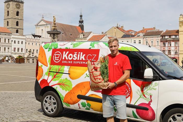 Košík dováží nově i do Českých Budějovic, zdroj: Košík.cz.