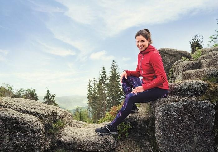 Ester Ledecká je tváří nové trekingové kolekce Lidlu, zdroj: Lidl.