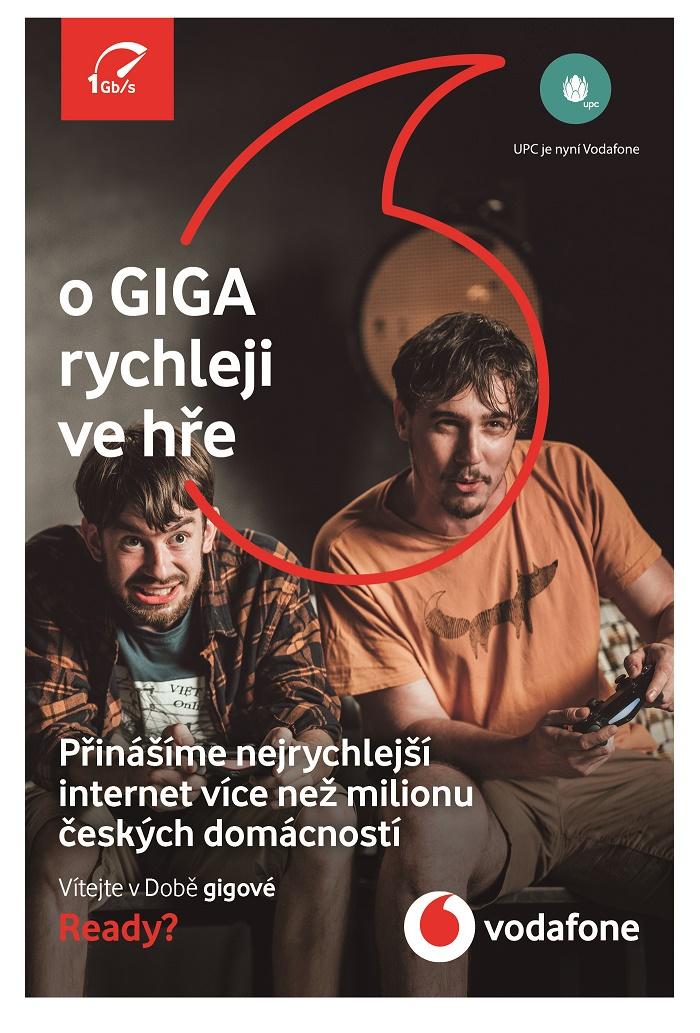 Jeden z klíčových vizuálů kampaně na Gigabit, zdroj: Vodafone