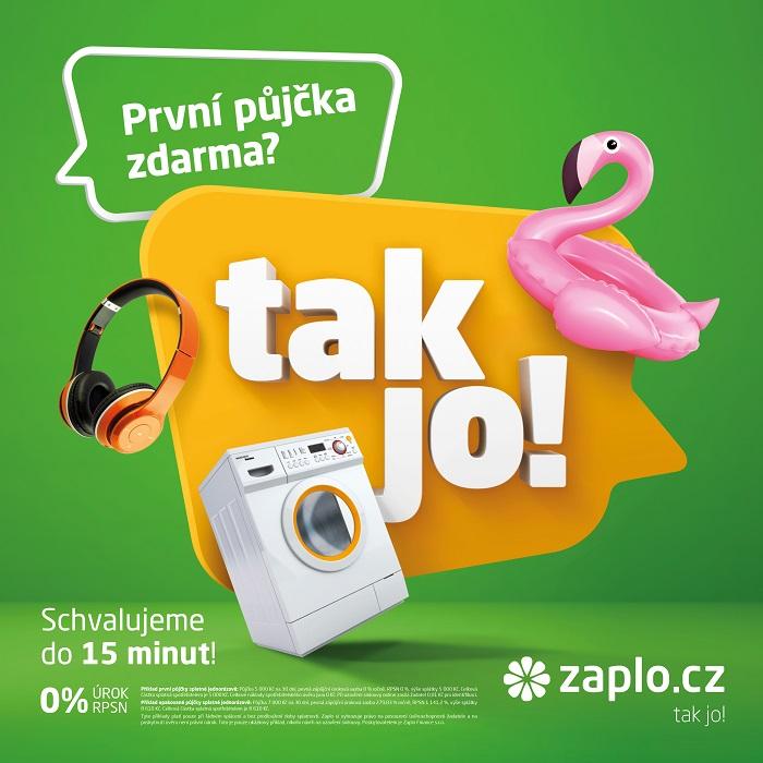 Klíčový vizuál nové kampaně Zaplo.cz, zdroj: Zaplo.cz