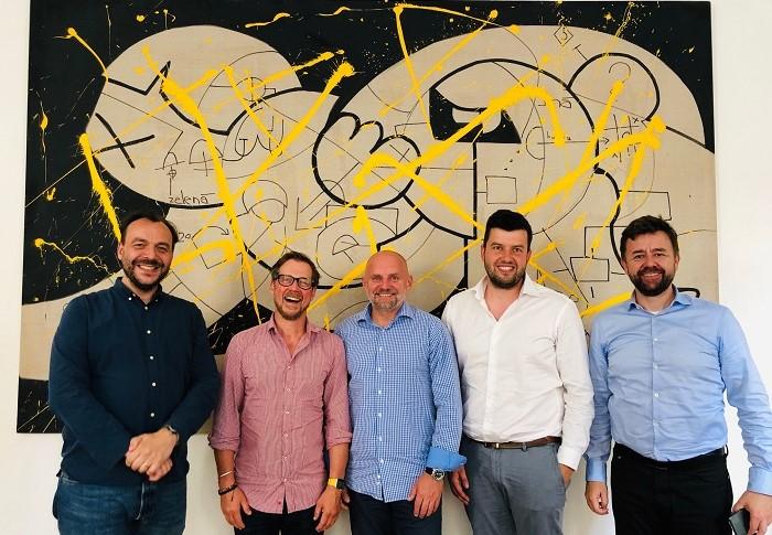 Nový výkonný výbor ČEA (zleva): Vít Rozehnal, Norbert Pýcha, Aleš Klemperer, David Borovka a Jan Kubinec, zdroj: ČEA
