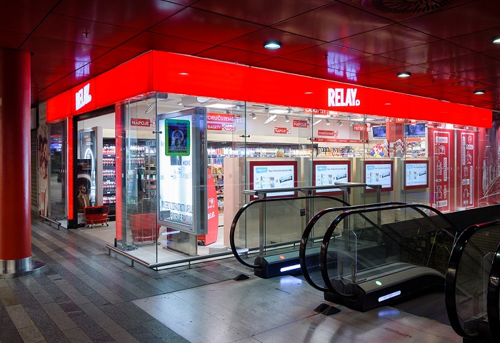Relay je nejpočetnější z malých konceptů, má 160 poboček, zdroj: Lagardère Travel Retail.