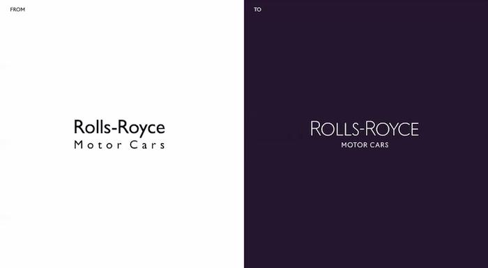 Změn doznala typografie, zdroj: Rolls-Royce.
