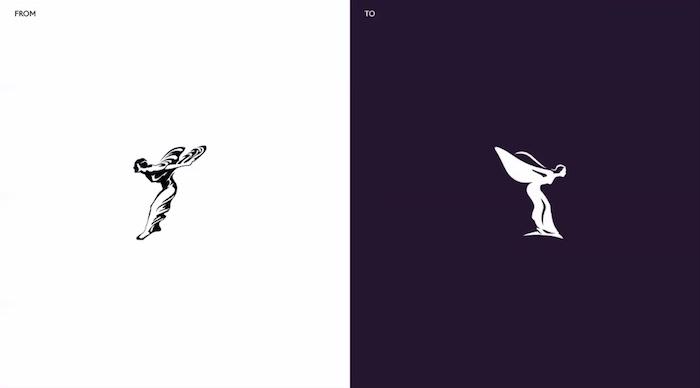 Modernizací prošla i grafická podoba symbolu Spirit of Ecstasy, zdroj: Rolls-Royce.