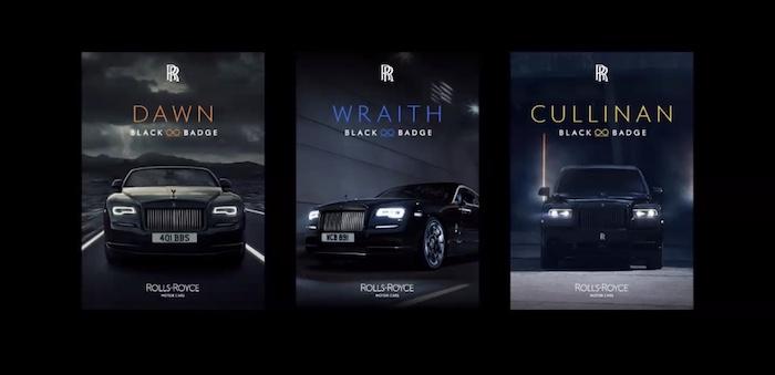 Novou vizuální podobu dostala i edice Black Badge, zdroj: Rolls-Royce.