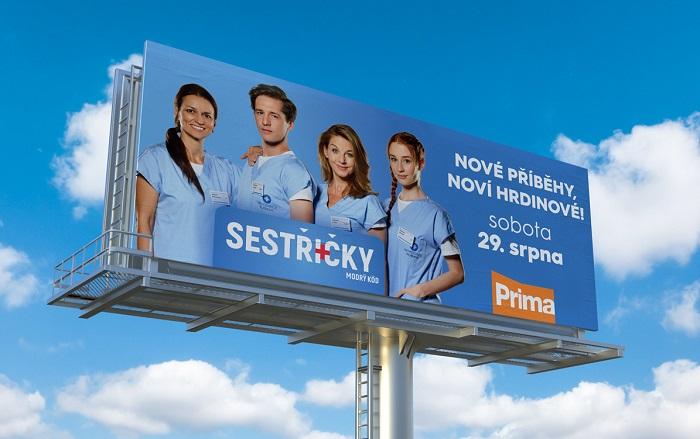 Outdoorová kampaň nového seriálu Sestřičky, zdroj: FTV Prima