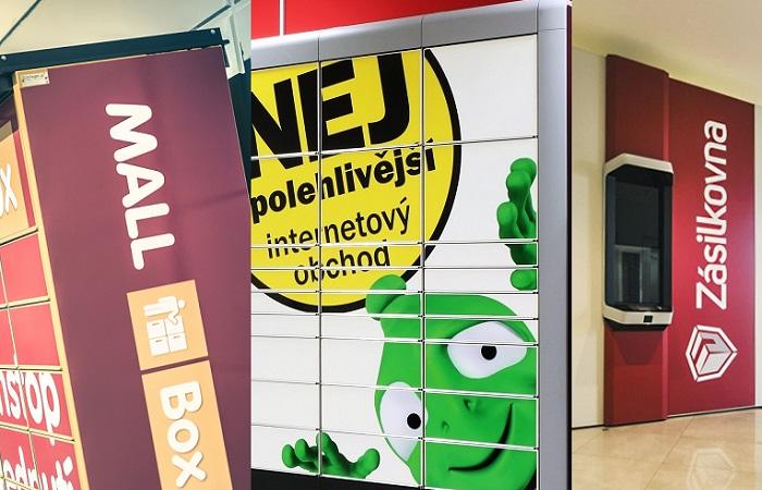V ČR firmy aktuálně provozují přes 370 výdejních boxů, zdroj: Mall.cz, Alza.cz a Zásilkovna/Packeta