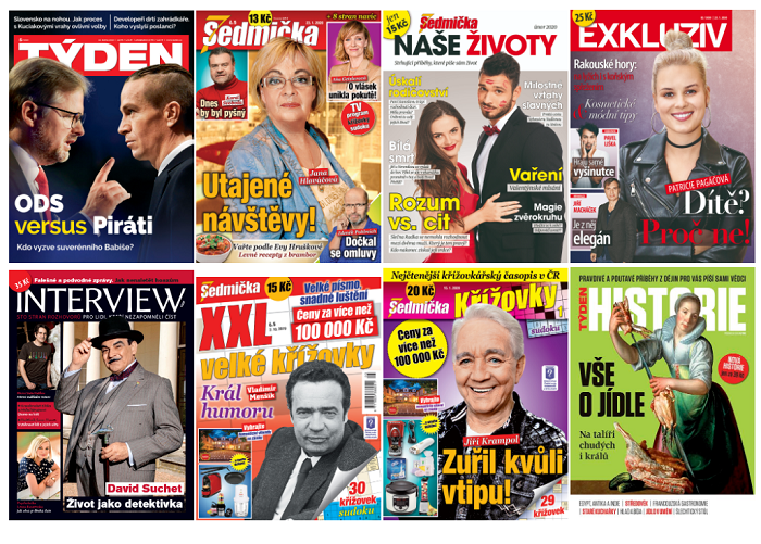 Portfolio časopisů Empresa Media, zdroj: Empresa Media