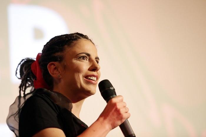 Ředitelka festivalu Kamila Zlatušková na zahajovacím večeru Serial Killer 2019, foto: Salík Sláma