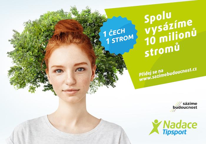 """Klíčový vizuál ke kampani """"Jeden Čech, jeden strom"""", zdroj: Nadace Tipsport"""