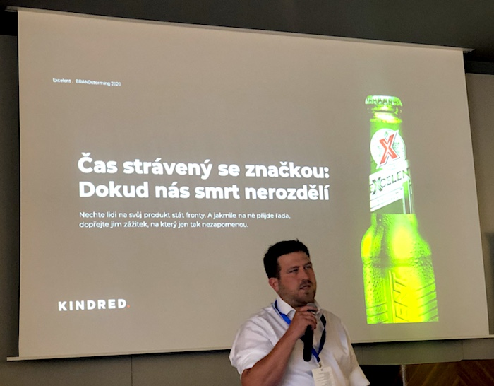 Michal Dúbravský z Plzeňského Prazdroje na konferenci Brandstorming, foto: MediaGuru.