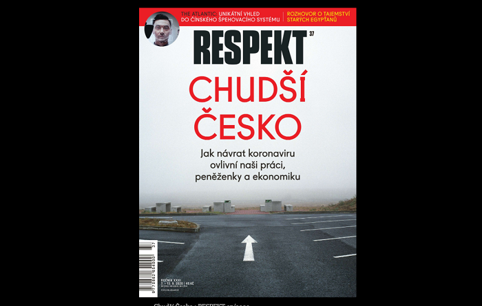 Titulní stránka týdeníku Respekt 37/2020, repro: Respekt