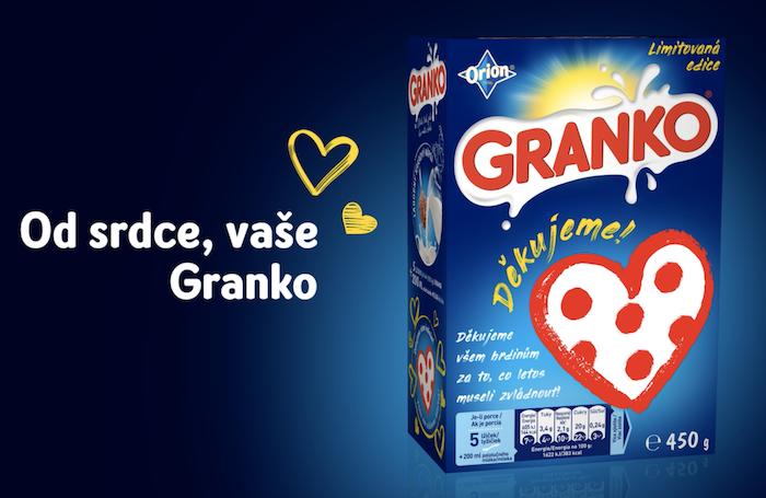 Limitovaná edice značky Granko, zdroj: Nestlé
