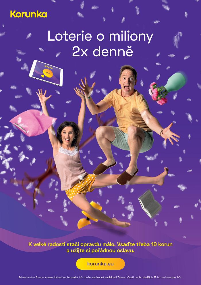 Klíčový vizuál k nové kampani loterie Korunka, zdroj: Tipsport