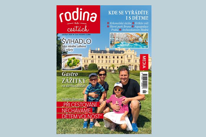 Titulní strana magazínu Rodina na cestách