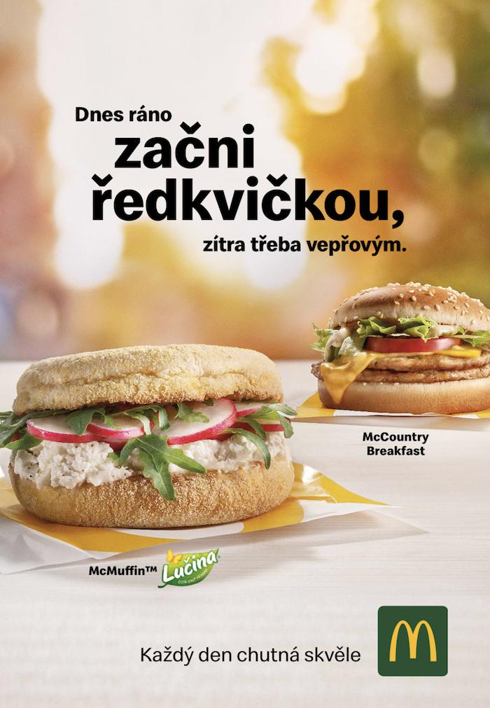 Klíčový vizuál k představení McMuffin Lučina, zdroj: McDonald's
