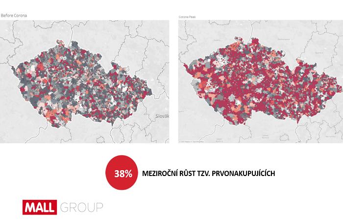 Během pandemie vzrostl počet prvonakupujících na Mallu o 38 %, zdroj: Mall.cz